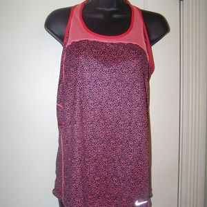 Nike Dri-Fit Black Salmon Racerback Exercise Top